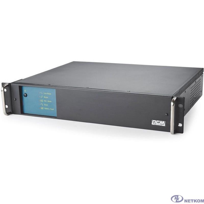 UPS PowerCom King Pro RM KIN-1500AP LCD (2U) {Line-Interactive, 1500VA/1200W, Rack, IEC, Serial+USB, SmartSlot, RS-232}