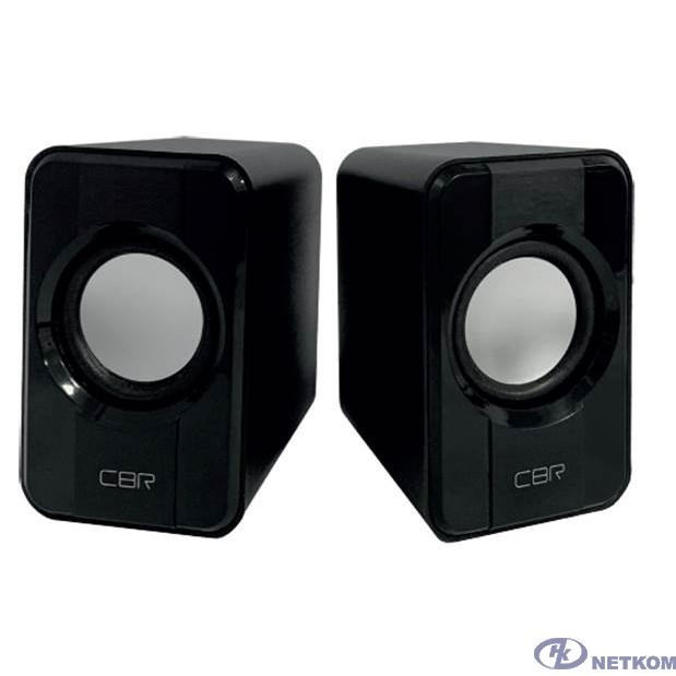 CBR CMS 336 Black, Акустическая система 2.0, питание USB, 2х3 Вт (6 Вт RMS), материал корпуса пластик, 3.5 мм линейный стереовход, регул. громк., длина кабеля 1 м, цвет чёрный