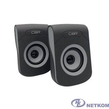 """CBR CMS 366 Grey, Акустическая система 2.0, питание USB, 2х3 Вт (6 Вт RMS), материал корп. пластик, покрытие """"софт-тач"""", 3.5 мм лин. стереовход, регул. громк., длина кабеля 1,2 м, цвет чёрный-серый"""