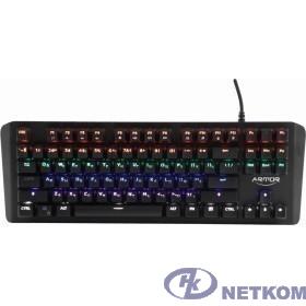 CBR KB 882 Armor, Клавиатура механическая игровая, USB, 87 кл., свитчи Outemu Blue, Anti-Ghosting, N-key rollover, Rainbow LED, 60 млн. наж., прорезин. ножки, корпус металл, длина кабеля 1,8 м