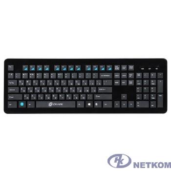 Клавиатура Oklick 870S черный USB беспроводная slim Multimedia [368218]