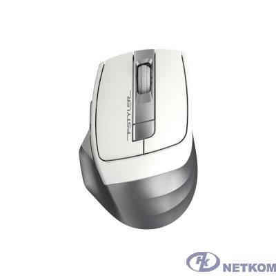 A-4Tech Мышь Fstyler FG35 silver/white optical (2000dpi) cordless USB (6but)  [1192136]