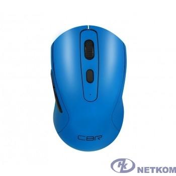 """CBR CM 522 Blue, Мышь беспроводная, оптическая, 2,4 ГГц, 800/1200/1600 dpi, 6 кнопок и колесо прокрутки, технология """"бесшумный клик"""", ABS-пластик, цвет голубой"""