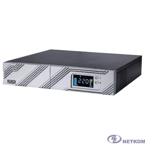 UPS PowerCom SRT-1500A LCD {Line-Interactive, 1500VA / 1350W, Rack/Tower, IEC, Serial+USB, SmartSlot, подкл. доп. батарей}