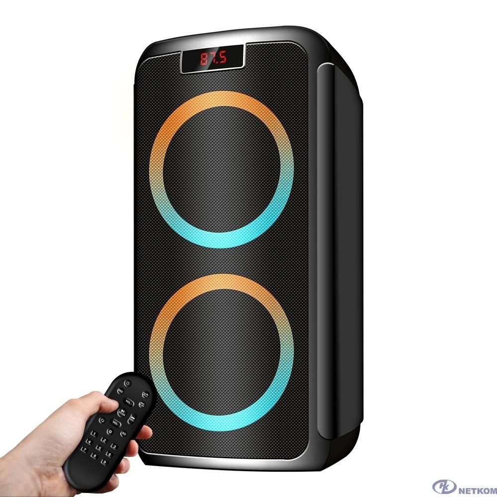 Ginzzu GM-202, Акустическая система Midi, RGB/BT/USB/SD/FM/ДУ