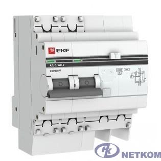 EKF DA2-25-30-pro Дифференциальный автомат АД-2 25А/30мА (хар. C, AC, электронный, защита 270В) 4,5кА EKF PROxima