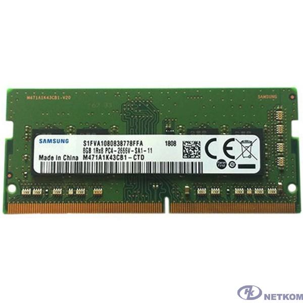 Samsung DDR4 SODIMM 8GB M471A1K43CB1-CTD PC4-21300, 2666MHz
