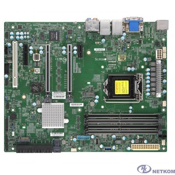 Supermicro MBD-X11SCA-F-O ATX, LGA1151v2, iC246, 4xDDR4, 8xSATA, 2x1GbE, IPMI, VGA