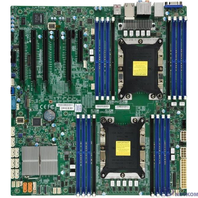 Supermicro MBD-X11DAI-N-O {X11DAi-N  Intel® Xeon® Scalable Processors. Dual Socket P (LGA 3647) supported, Up to 2TB 3DS ECC RDIMM DDR4-2666MHz, M.2 Interfac, PCI-E}