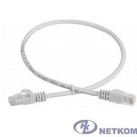 ITK PC01-C5EU-3M-G Шнур коммутационный кат. 5Е UTP 3м серый GENERICA