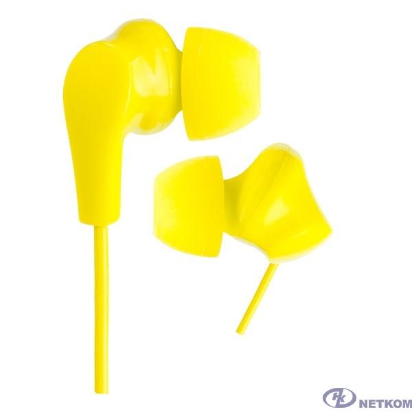 Perfeo наушники внутриканальные NOVA желтые