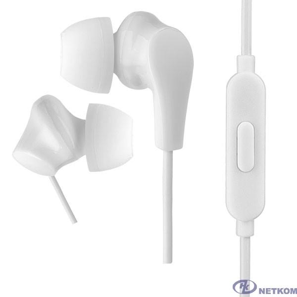 Perfeo наушники внутриканальные c микрофоном ALPHA белые