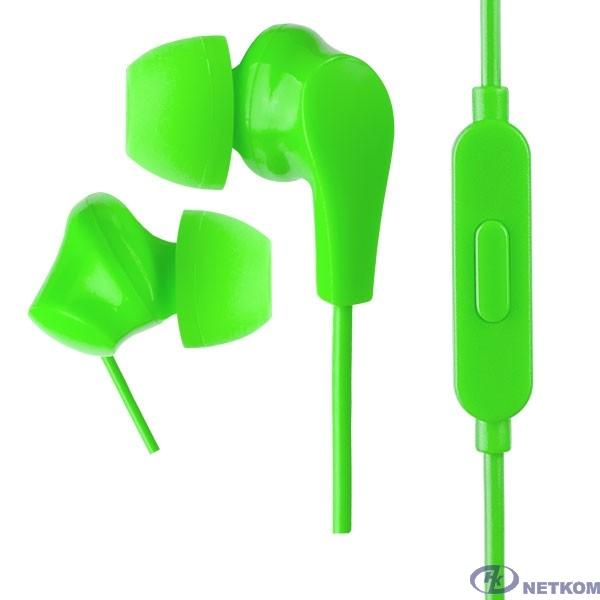Perfeo наушники внутриканальные c микрофоном ALPHA зеленые