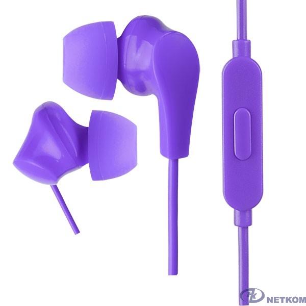 Perfeo наушники внутриканальные c микрофоном ALPHA фиолетовые