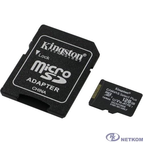 Micro SecureDigital 128Gb Kingston SDCS2/128GB {MicroSDXC Class 10 UHS-I, SD adapter}