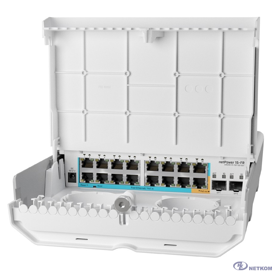 MikroTik CRS318-1Fi-15Fr-2S-OUT Коммутатор 15FR with RouterOS L5 license