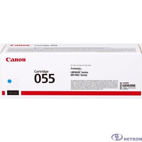 Canon CRG 055 C Тонер-картридж для Canon LBP66x/MF74x,  (2100 стр.), голубой (GR)