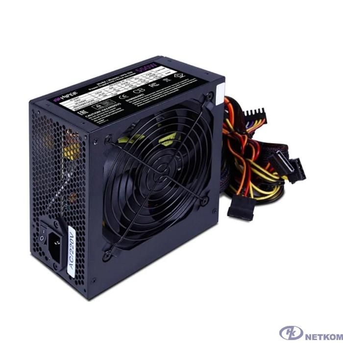 HIPER Блок питания HPB-550RGB (ATX 2.31, 550W, ActivePFC, RGB 140mm fan, Black) BOX