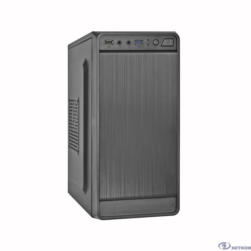 Exegate EX283130RUS Корпус Minitower ExeGate BAA-108U Black, mATX, <AAA400, 80mm>, 1*USB+1*USB3.0, Audio