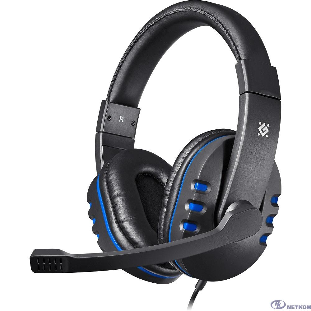 Defender Warhead G-160 черный+синий, кабель 2,5 м [64118]