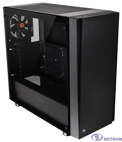 Case Tt Versa J21 TG черный без БП ATX 2x120mm 2xUSB2.0 2xUSB3.0 audio bott PSU [CA-1K1-00M1WN-00]
