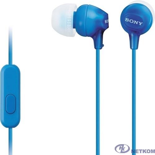 Sony MDR-EX15AP 1.2м голубой проводные в ушной раковине (MDREX15APLI.CE7)