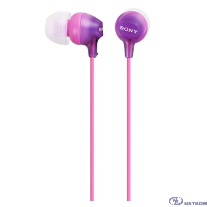 Sony MDR-EX15AP 1.2м фиолетовый проводные в ушной раковине (MDREX15APV.CE7)
