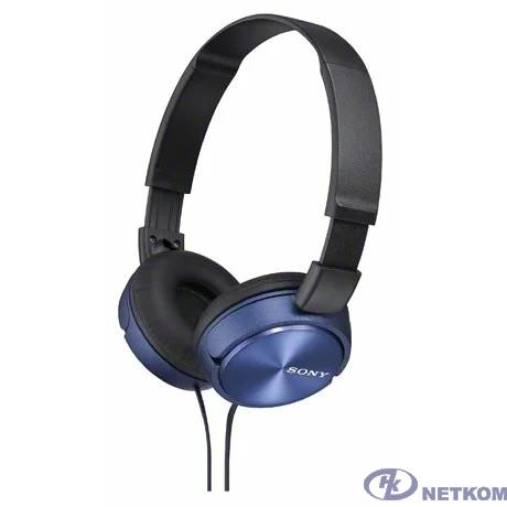 Sony MDR-ZX310 1.2м синий проводные (оголовье)