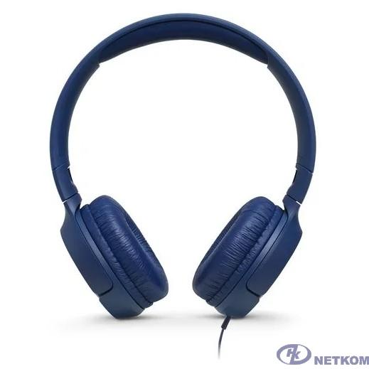 JBL Наушники накладные Т500, 32 Ом, синий [JBLT500BLU]