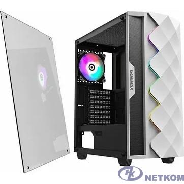 GameMax White Diamond MFG.A361 Корпус (ATX,Бел., USB3.0, Зак.стекло,1*120мм вент+контроллер, без БП)