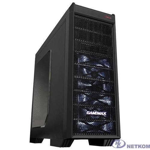 GameMax [G501X White Led] Luxury MFG G501X (Midi Tower, ATX,Черн.,Окно, USB3.0, внеш. SATA отсек (без БП)