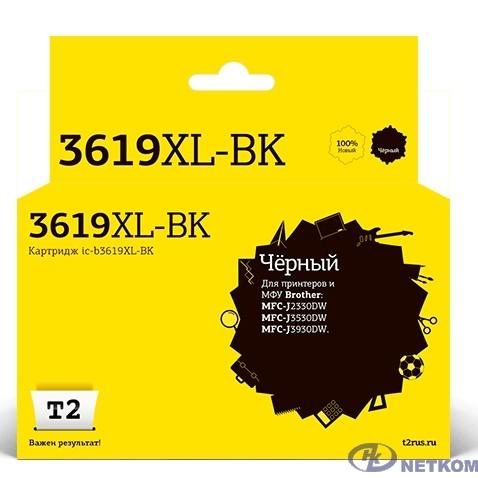 T2  LC-3619XLBK Тонер-картридж (IC-B3619XL-BK) для  Brother MFC-J3530DW/J3930DW, черный, с чипом, 3000к