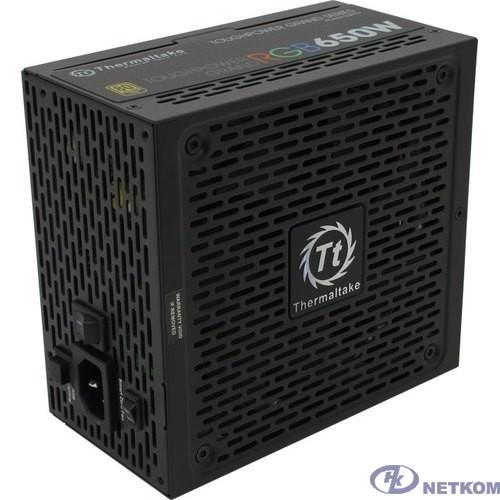 Блок питания Thermaltake ATX 650W Toughpower Grand RGB Sync 80+ gold (24+4+4pin) APFC 140mm fan color LED 9xSATA Cab Manag RTL [PS-TPG-0650FPCGEU-S]