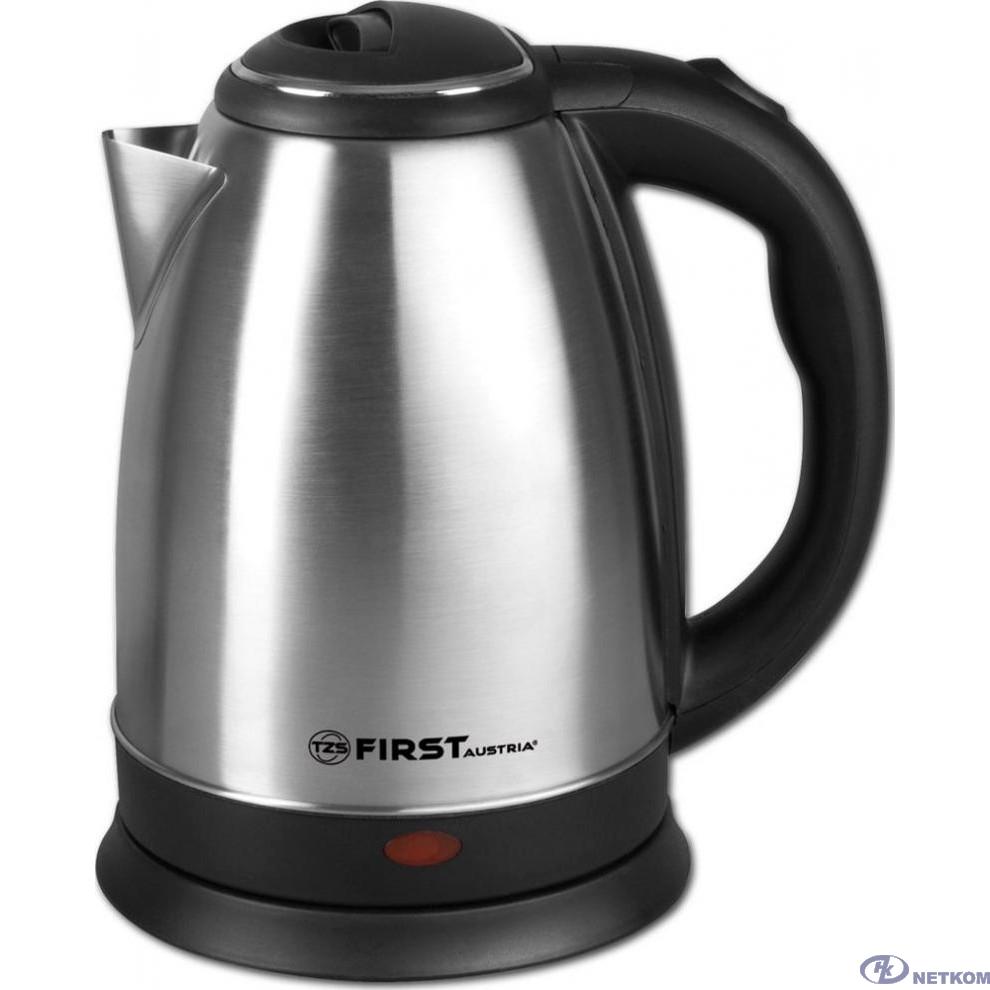 FIRST FA-5409-4 Stell 5409-4 Чайник Мощность 1500 Вт.Максимальный объем 1.8 л • Корпус из нержавеющей стали.Stell