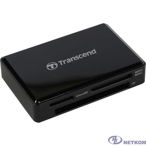 Считыватель карты памяти Transcend USB 3.0 Transcend All-in-1 Multi Card Reader, Black [TS-RDF8K2]