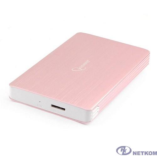 "Gembird EE2-U3S-65 Внешний корпус 2.5"" розовое золото, USB 3.0, SATA, алюминий"