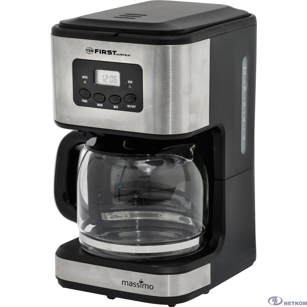 FIRST (FA-5459-4 Grey) Кофеварка, Мощность: 900 Вт.Емкость: 10-12 чашек  (1.2 л) Grey
