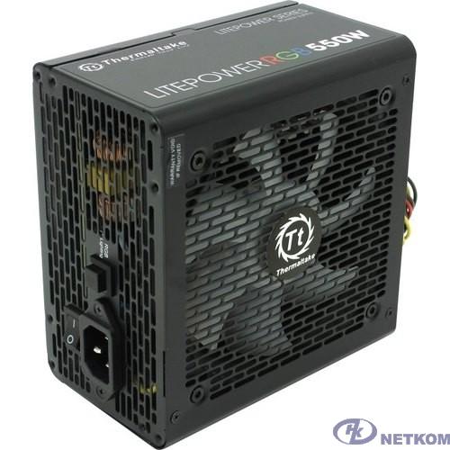 Блок питания Thermaltake Litepower RGB 550W [PS-LTP-0550NHSANE-1]  <550W, (20+4+4+4) pin, 2x(6+2) pin, 5xSATA, 4xMolex, FDD, 12 см,кабель питания