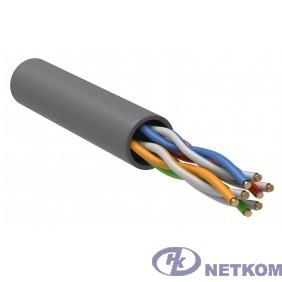 ITK LC1-C5E04-121-100 Витая пара U/UTP кат.5E 4 x 2 х 24 AWG LSZH серый (100м)