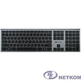 Клавиатура Oklick 890S серый USB беспроводная slim {1196549}