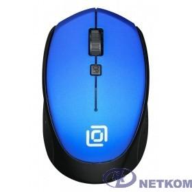 Мышь Oklick 488MW синий/черный оптическая (1600dpi) беспроводная USB (3but) {1196569}
