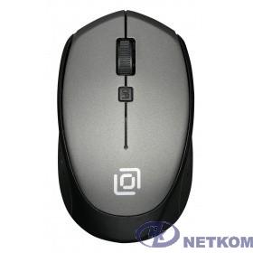 Мышь Oklick 488MW серый/черный оптическая (1600dpi) беспроводная USB (3but) {1196571}