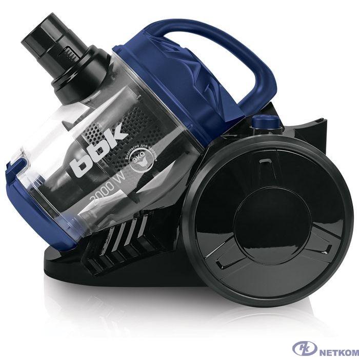 BBK BV1503 (B/BL) Пылесос, циклонный фильтр, 1600 Вт, черный/ синий