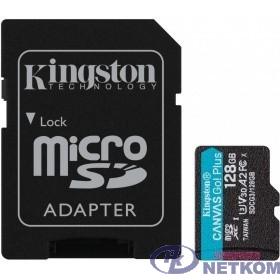 Micro SecureDigital 128Gb Kingston Canvas Go Plus UHS-I U3 A2 + ADP (170/90 MB/s) SDCG3/128GB