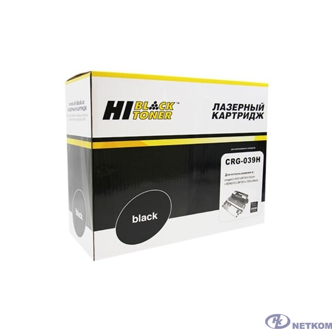 Hi-Black Cartrige 039H Black для Canon i-SENSYS LBP351x/352x с чипом