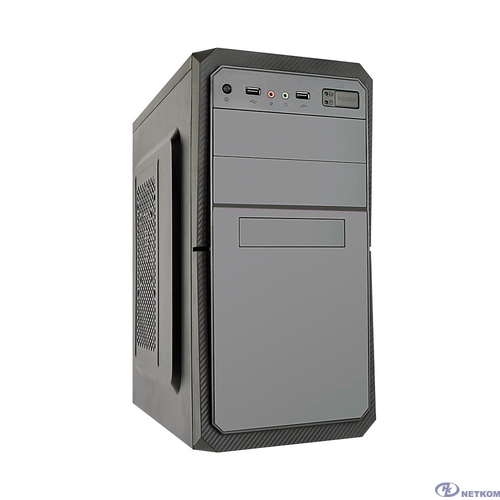 Exegate EX284023RUS Корпус Minitower BA-202 Black, mATX, <AA500, 80mm>, 2*USB, Audio