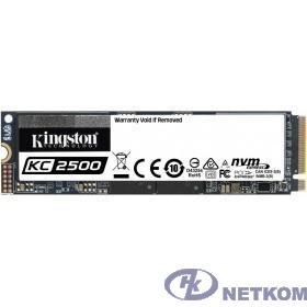 Накопитель SSD Kingston PCI-E NVMe M.2 500Gb SKC2500M8/500G KC2500 2280 (SKC2500M8/500G)