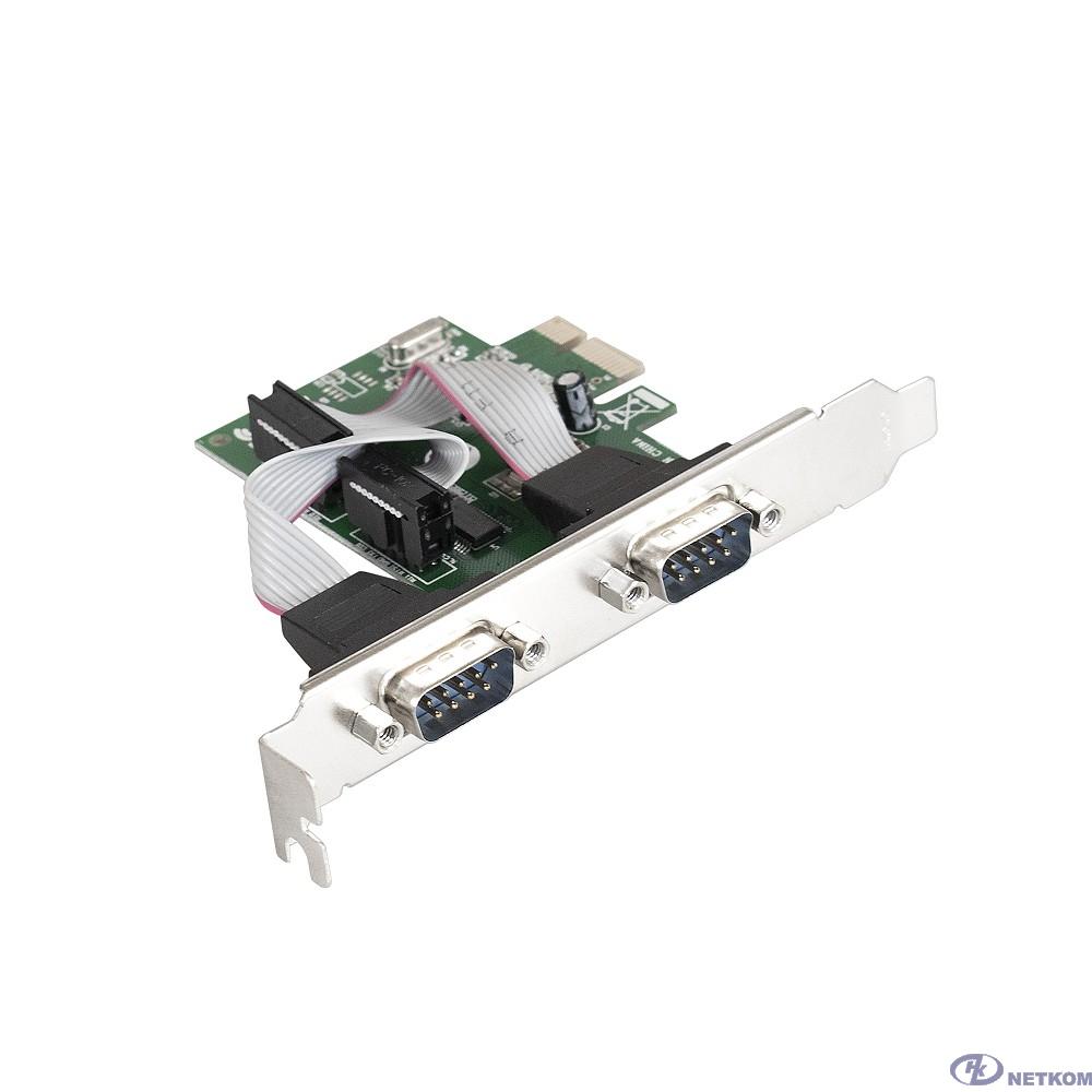 Exegate EX283706RUS Контроллер EXE-307 PCI-E, 2*COM port (OEM)