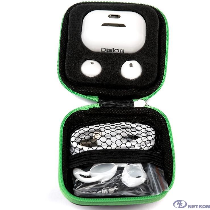 Dialog  ES-75BT WHITE Bluetooth с кнопкой ответа для мобильных устройств, белая