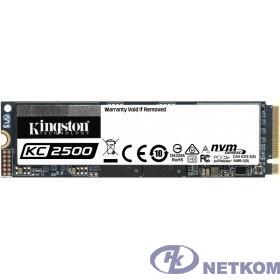 Kingston 2000GB KC2500 M.2 2280 NVMe R/W 3500/2900MB/s IOPs 375 000/300 000, 1200TBW [SKC2500M8/2000G]